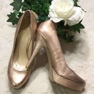 Pre-Owned Enzo Angiolini Pink Leather Pumps, 9M